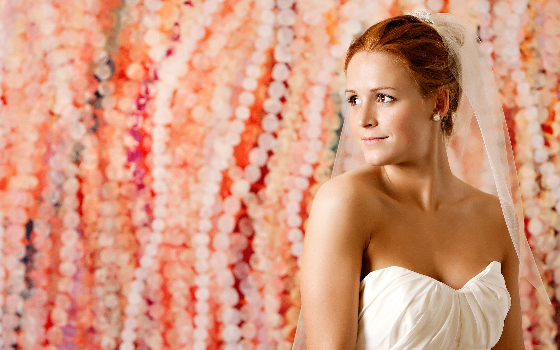A Beautiful Bride in Her Gorgeous Gown Posing