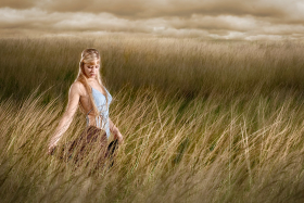 High School Senior Portrait in Field