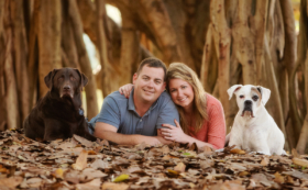 Family Photo Banyan Tree Pets