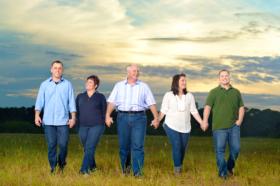 Family-Portrait-Walking-Grass-Field