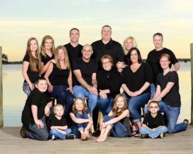 Large Family Portraits Black Shirts